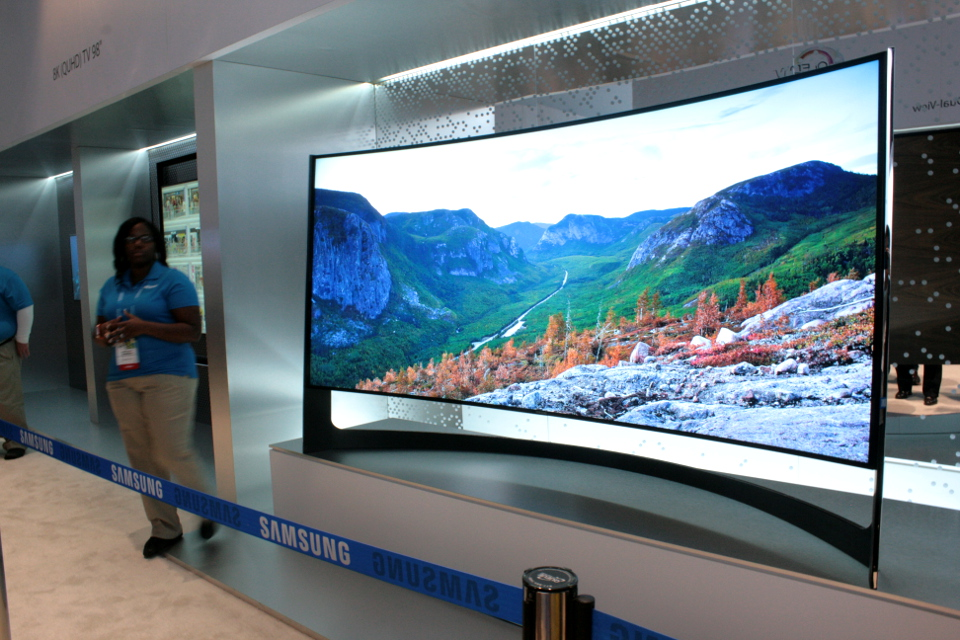 Samsung 105in Curved 4k UHD TV 2014 CES