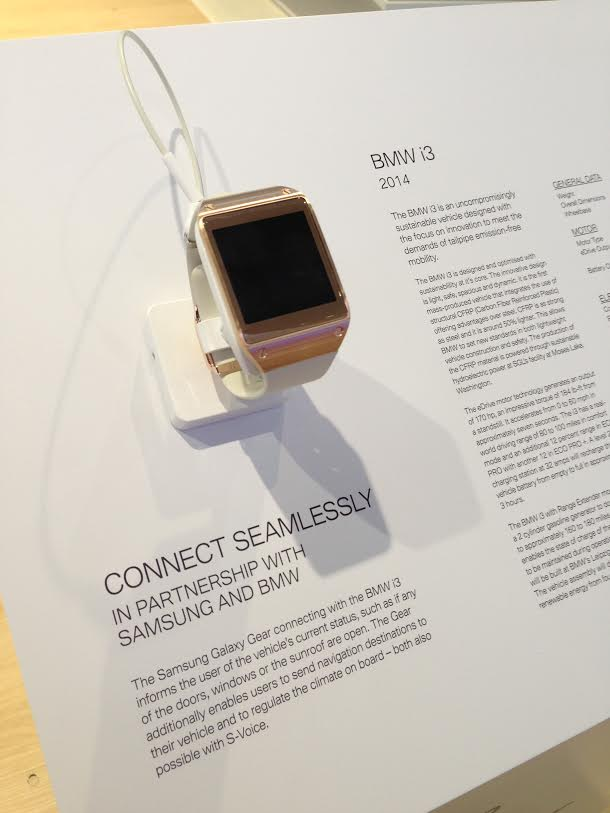 Samsung Galaxy Gear BMW i3