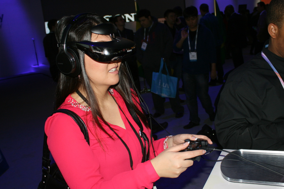 Sony VR Headset 2014 CES