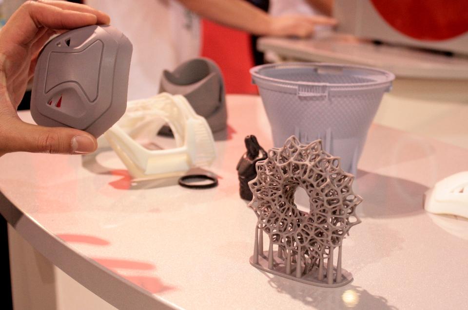 3D Printed Sculptures 2014 CES